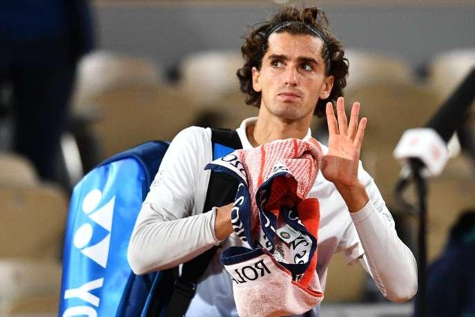 Pierre-Hugues Herbert quitte Roland-Garros après sa défaite face à Alexander Zverev, 30 septembre 2020