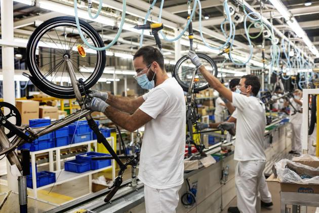 Dans l'usine deRTE à Vila Nova de Gaia, Portugal.