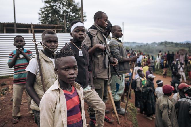 Des enfants soldats en Ituri, à l'est de la RDC, en septembre 2020.