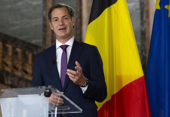 Alexander De Croo, le premier ministre belge, lors d'une conférence de presse au Palais d'Egmont à Bruxelles, le mercredi 30 septembre 2020.