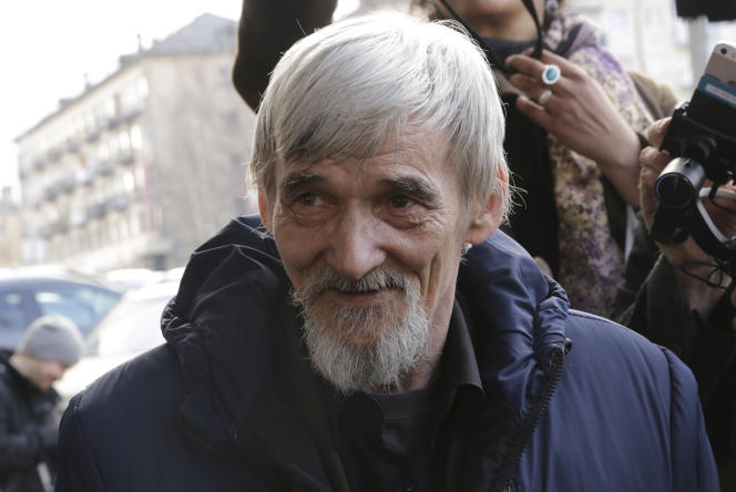 L'historien Iouri Dmitriev, au tribunal de Petrozavodsk, enrépublique de Carélie, le 5 avril 2018.