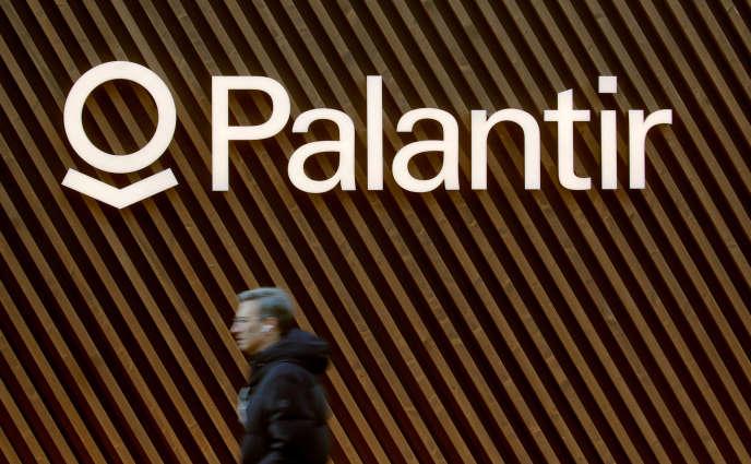 Logo de la société Palantir, à Davos, Suisse, le 22 janvier 2020.