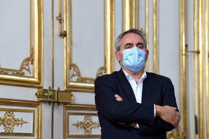 Le président de la région des Hauts-de-France, Xavier Bertrand, à Paris, le 28septembre.