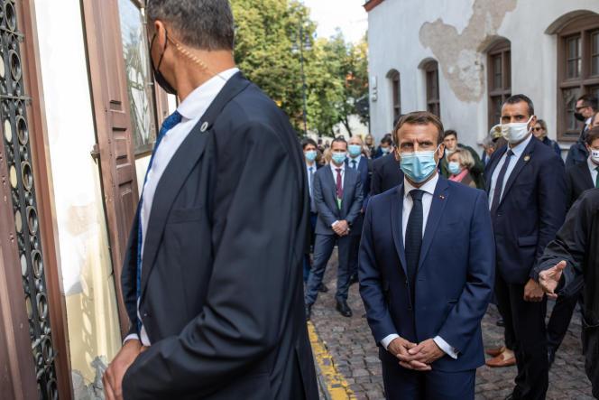 Emmanuel Macron, à Vilnius (Lituanie), le 29 septembre.