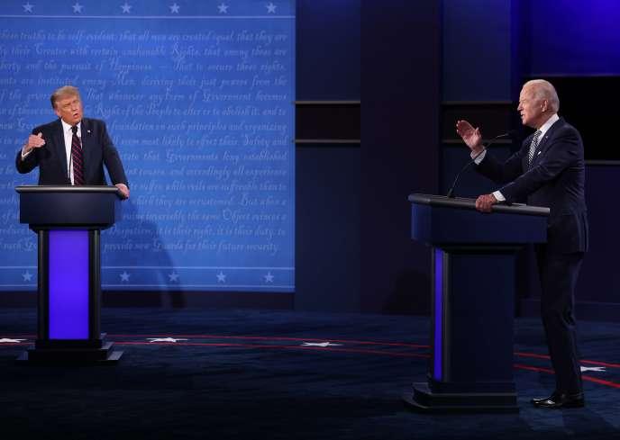 Donald Trump et Joe Biden lors du débat du 29 septembre.