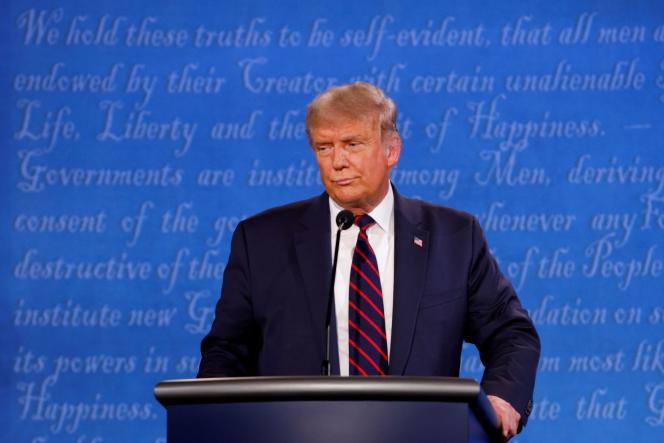 Donald Trump, lors du premier débat télévisé de la campagne présidentiel, mardi 29 septembre, à Cleveland (Ohio).