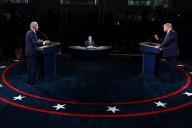 Premier débat présidentiel entre Donald Trump et Joe Biden, le 29 septembre, à l'université de Cleveland (Ohio).