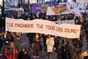 Marche mondiale des femmes, à Paris, le 8 mars 2010.