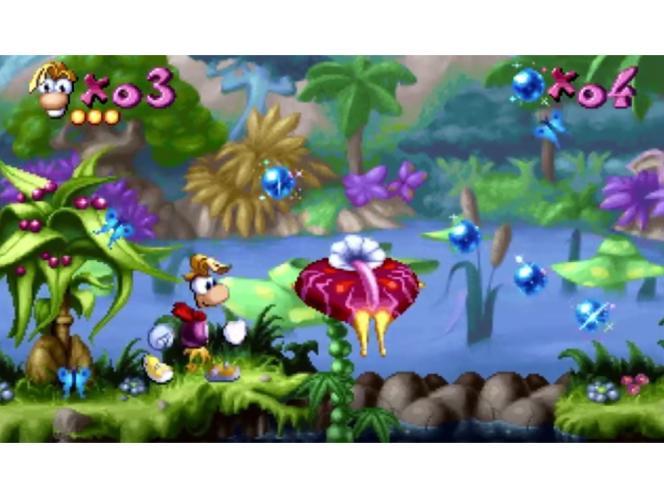 Capture d'écran du premier« Rayman », sorti en 1995.