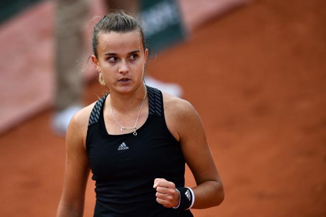 La Française Clara Burel, qualifiée pour le 3e tour à Roland-Garros.