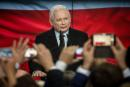 (FILES) This file photo taken on October 11, 2019 shows the leader of Poland's ruling Law and Justice (PiS) party, Jaroslaw Kaczynski after the first exit polls of parliamentary elections during the party's electoral evening in Warsaw, Poland. Jaroslaw Kaczynski, the powerful leader of Poland's dominant right-wing Law and Justice (PiS) party will formally join the coalition government it leads, the prime minister said Wednesday, September 30, 2020. / AFP / Wojtek RADWANSKI