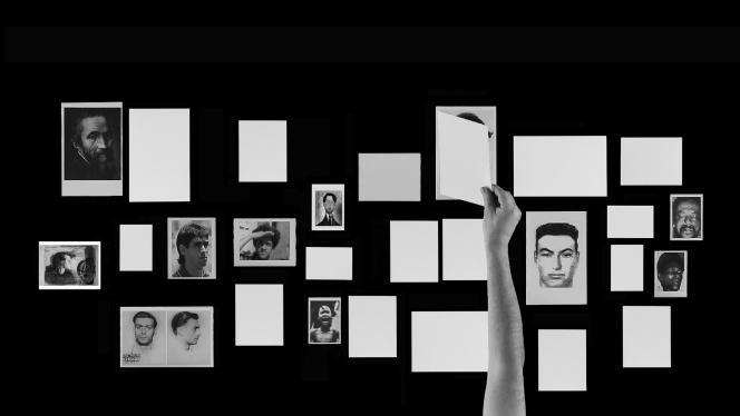« Editor Solitario » (2011), œuvre interprétée et réalisée par Oscar Muñoz.