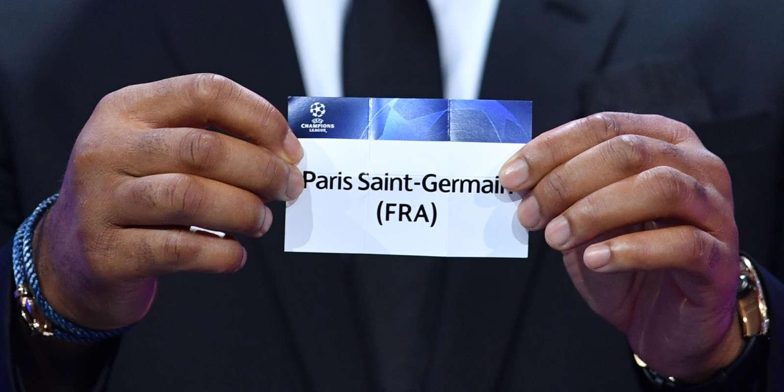 Lors du tirage au sort de la Ligue des champions, jeudi 1er octobren à Genève.