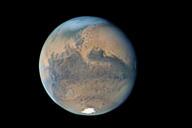 La planète Mars vue depuis Paris, avec un télescope de 300 mm.