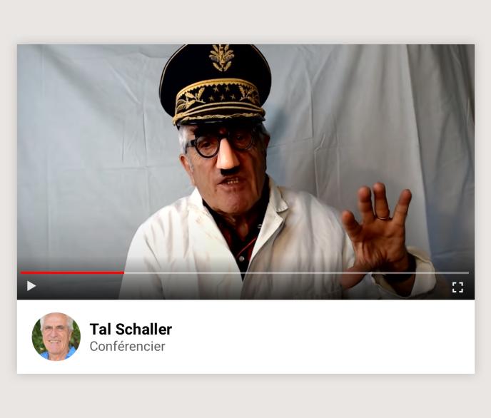 Le conférencier Tal Schaller.
