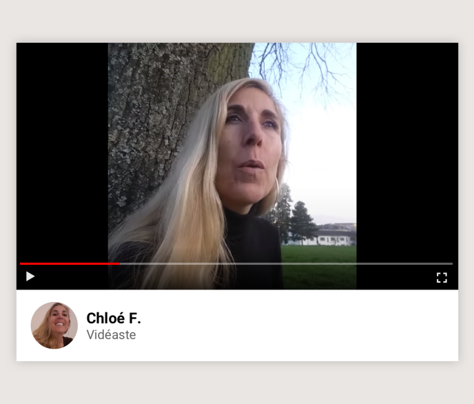 La vidéaste Chloé F.