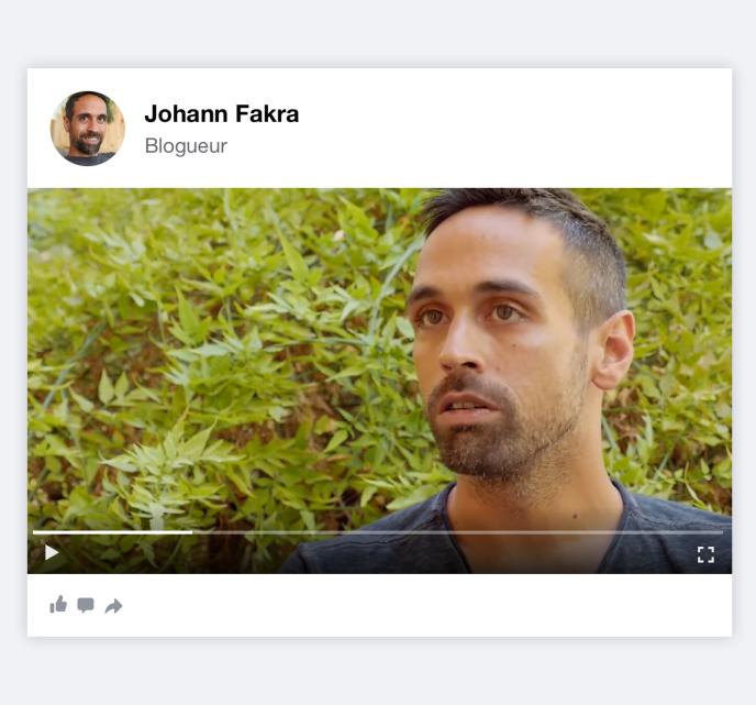 Le blogeur Johann Fakra.
