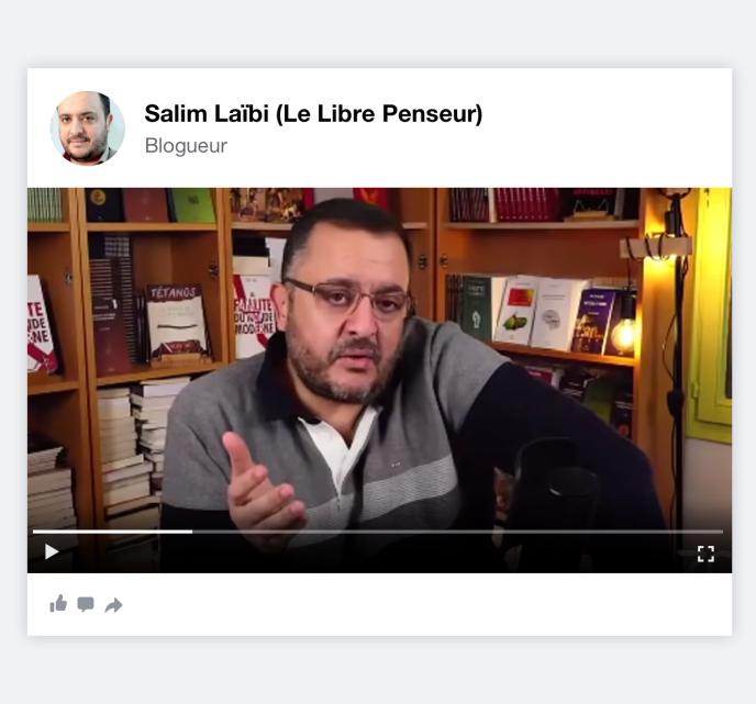 Le blogeur Salim Laïbi.