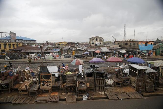 Un bidonville à Lagos, la capitale économique du Nigeria, en avril 2016.