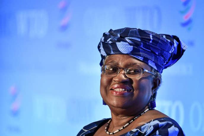 Ngozi Okonjo-Iweala durant une conférence à Genêve, le 15 juillet 2020.
