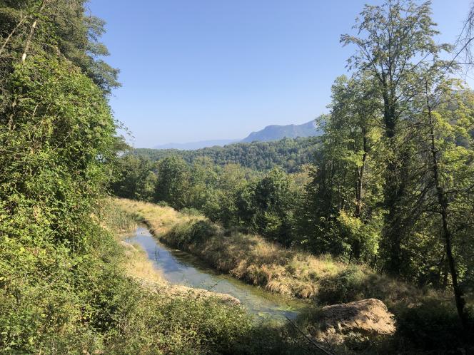 La réserve de vie sauvage de l'Aspas, à Valfanjouse, dans la Drôme, en septembre.