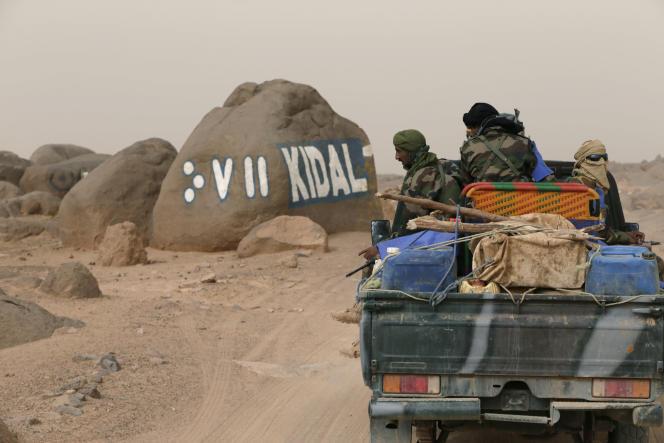 En arrivant à Kidal, dans le nord-est du Mali.