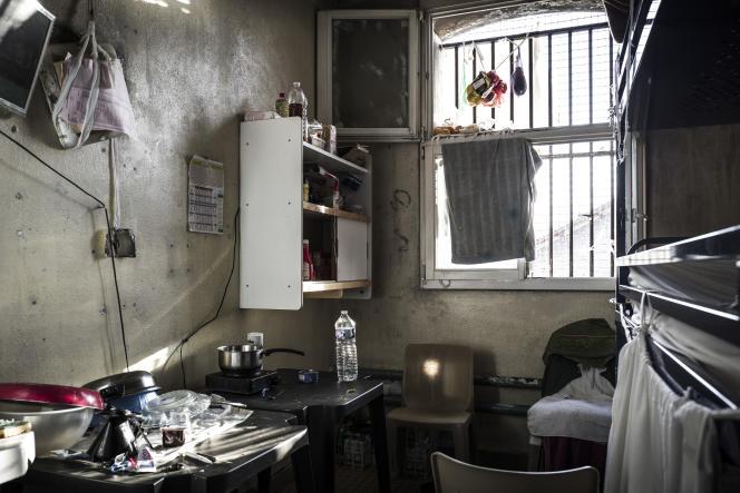Une cellule de la prison de Fresnes, dans le Val-de-Marne, en octobre 2018.