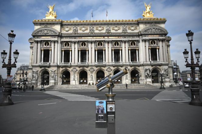 L'Opéra Garnier, à Paris, le 17 mars 2020.
