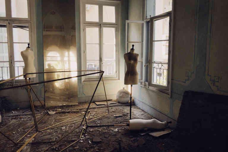 Le show-room Rabih Kayrouz à Beyrouth après l'explosion le 4 août 2020.