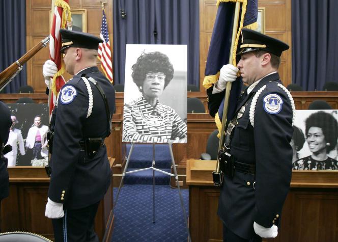 Un hommage à Shirley Chisholm, militante des droits civiques et des droits des femmes, à Washington, en 2005.