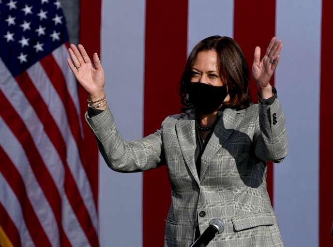 La vice-présidente démocrate américaine, la sénatrice Kamala Harris, le 2 octobre à Las Vegas, Nevada.