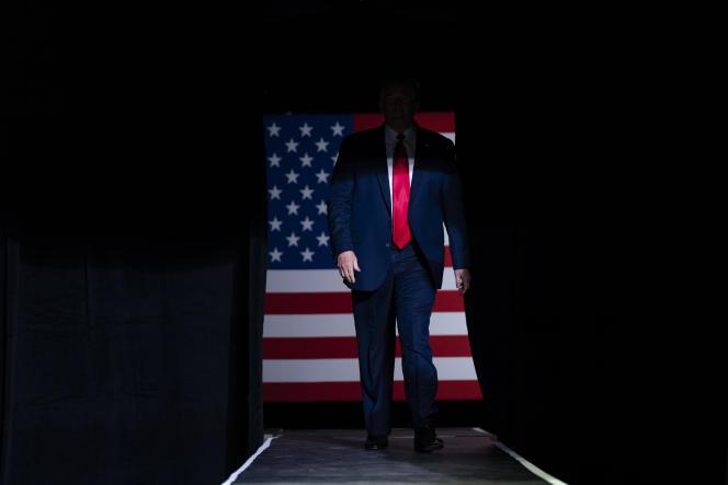 Le président américain Donald Trump lors d'un événement de campagne à Tulsa dans l'Oklahoma, le 20 juin.