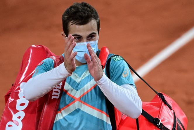 Hugo Gaston, à Roland-Garros, le 4 octobre 2020.