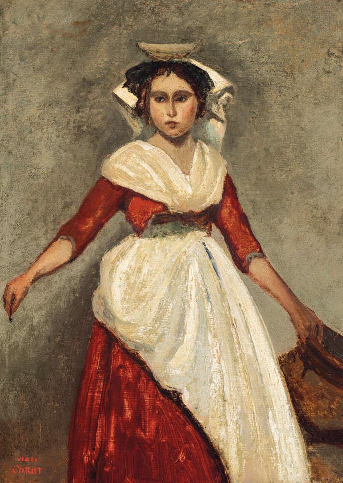 «Italienne debout tenant une cruche» de Camille Corot, sera l'une des toilesmises en vente chez Christie's le 15 octobre.