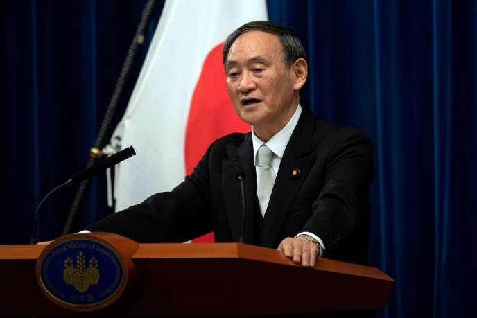 Le nouveau premier ministre japonais, Yoshihide Suga, le 16 septembre à Tokyo.