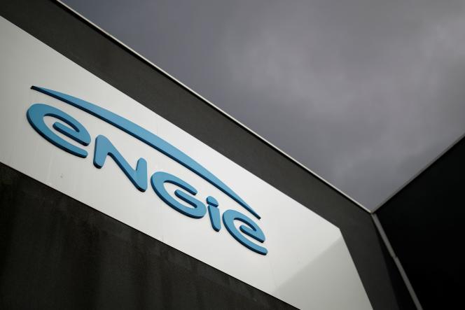 Le logo du groupe français Engie, près de Nantes, en octobre 2020.