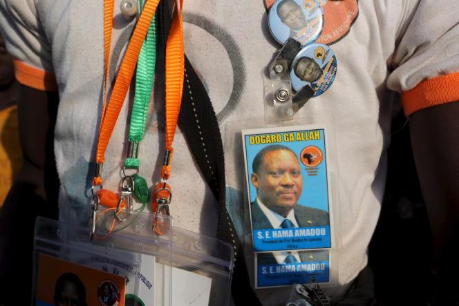 Partisan de Hama Amadou, (déjà) candidat à l'électionprésidentielle de2016, à Niamey.