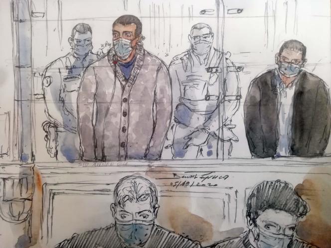 Sid Ahmed Ghlam, devant la cour d'assises spéciale de Paris, le 5 octobre.