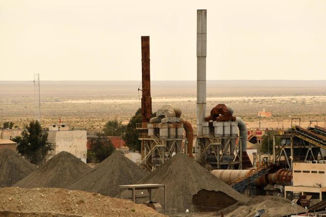 L'usine de phosphate de Metlaoui, dans le bassin de Gafsa, en mars 2018, dans le centre de la Tunisie.