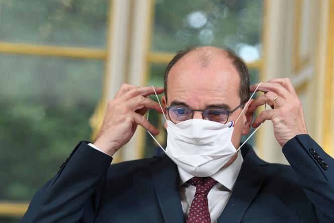 Le premier ministre, Jean Castex, à l'Hôtel Matignon, le 28 septembre.