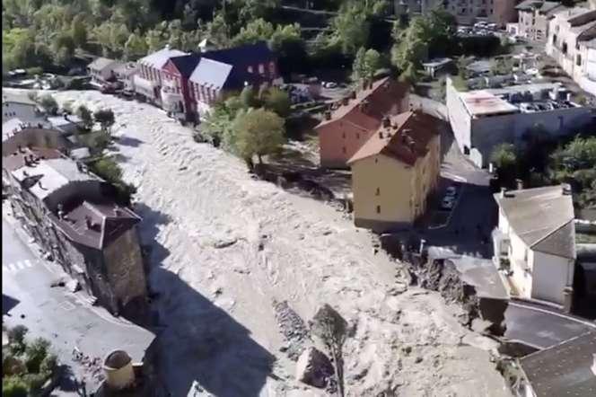 Crue catastrophique à Breil-sur-Roya (Alpes-Maritimes) le 3 octobre 2020.