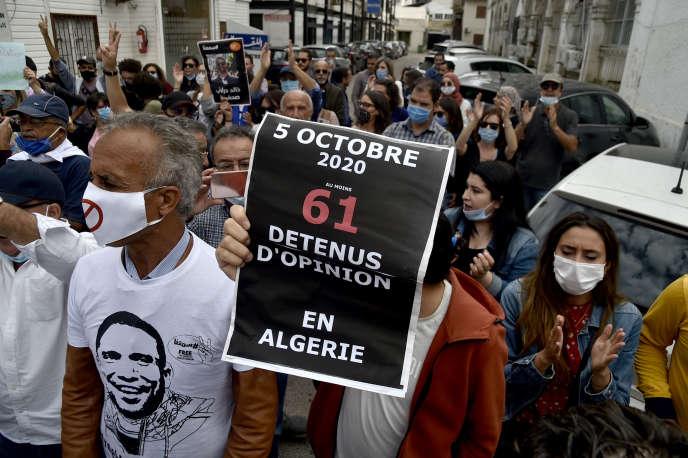 Marche à Alger, le 5 octobre 2020.