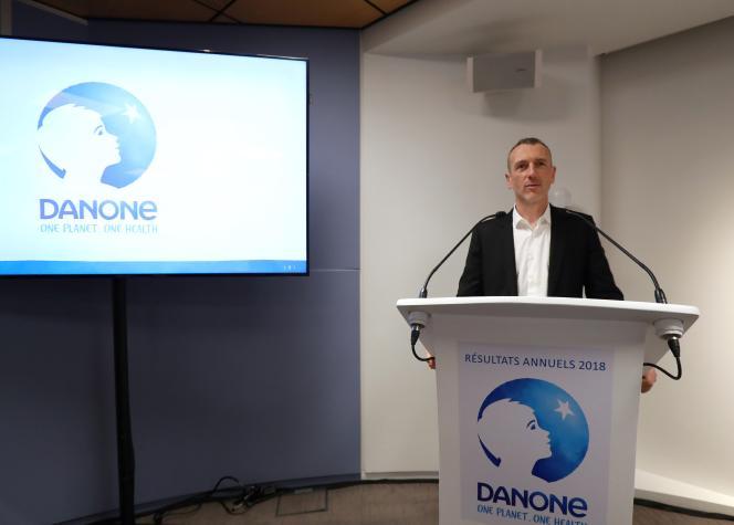Emmanuel Faber, patron de Danone, en février 2019, à Paris.