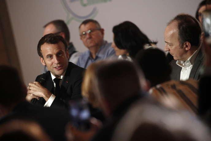 Le président Emmanuel Macron, lors de son intervention devant la convention citoyenne pour le climat, le 10 janvier à Paris.