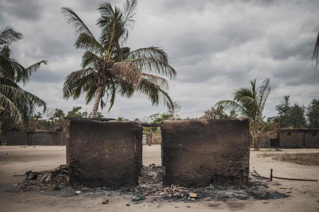 Après une attaque de djihadistes dans le village d'Aldeia da Paz (nord du Mozambique), le 24 août 2019.