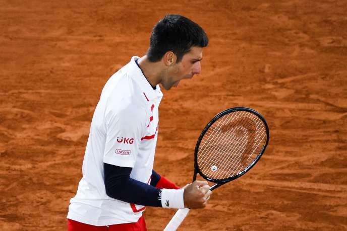 La rage de Novak Djokovic après sa victoire en quarts.
