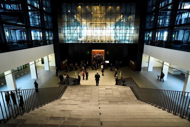 A l'intérieur de la Cour de justice de l'Union européenne, à Luxembourg, en janvier 2020.