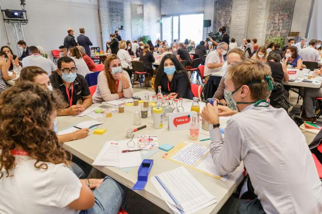 Première session de la convention citoyenne pour l'Occitanie qui s'est tenue à Toulouse les 10, 11 et 12 septembre.