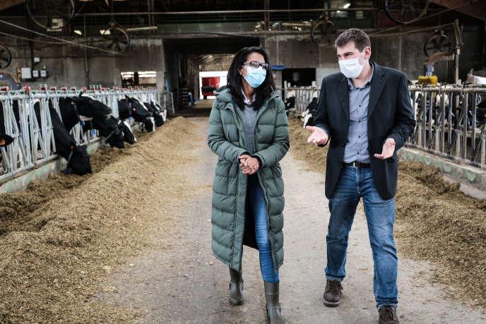 Audrey Pulvar à la ferme expérimentale de Grignon (Yvelines), le 2 octobre.