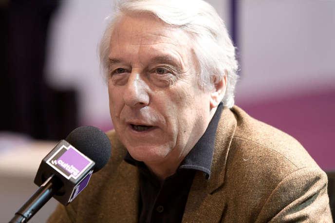 Michel Winock, au Salon du livre de Paris, en2010.
